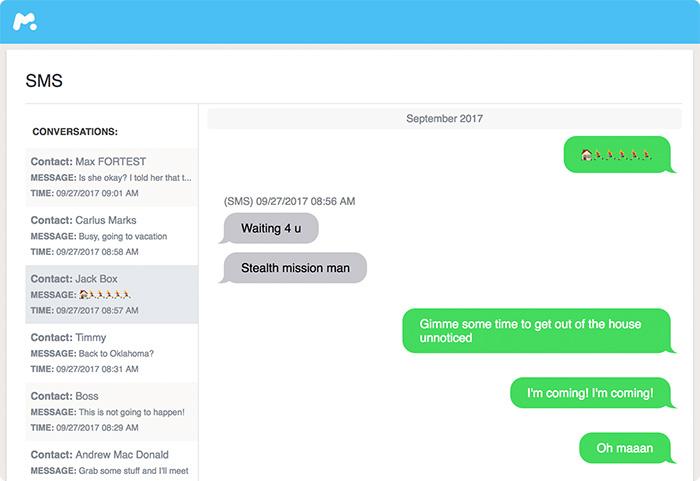 SMS MMS Application de Messagerie instantanee